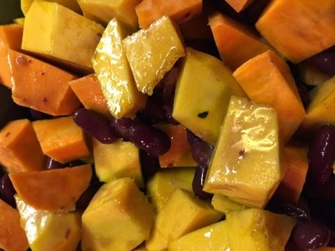 Sweet Potato, Squash and Kidney Bean Salad…?