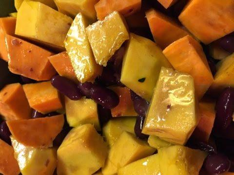 Sweet Potato, Squash and Kidney Bean Salad…?