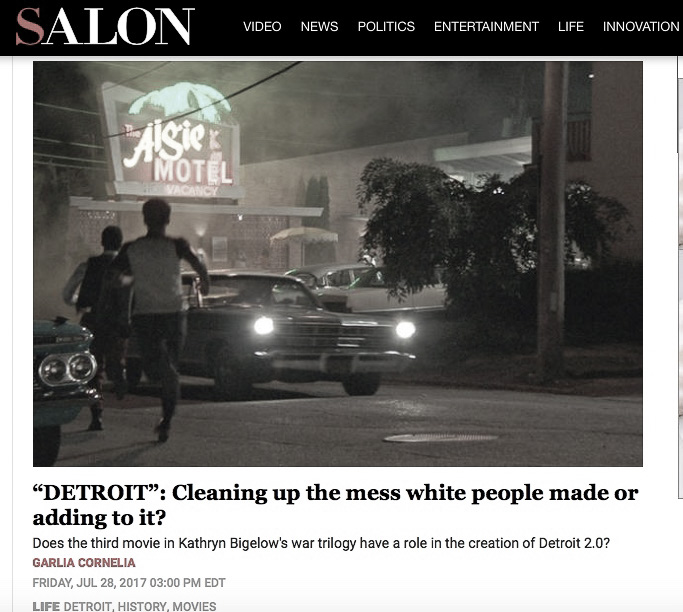 Latest article: Salon.com Re: DETROIT